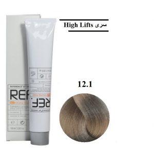 رنگ مو رف 12.1 بلوند خاکستری فوقالعاده روشن