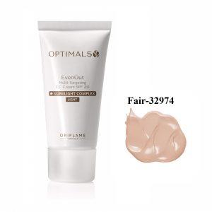 کرمپودر طبیعی CC اپتیمالز ایوناوت اوریفلیم (SPF20) Oriflame Optimals Even Out Multi-targeting CC Cream SPF 20 Fair Code 32974-30ml